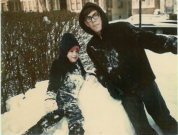 Dan and sam in snow